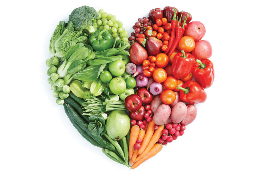 Veggies in the shape of a heart Heart to Home dietitian Endless Journey Hospice Omaha Nebraska