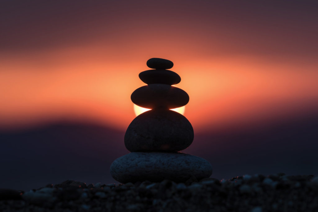 balancing rocks guided meditation gentle touch therapies holistic intervention Endless Journey Hospice Omaha Nebraska