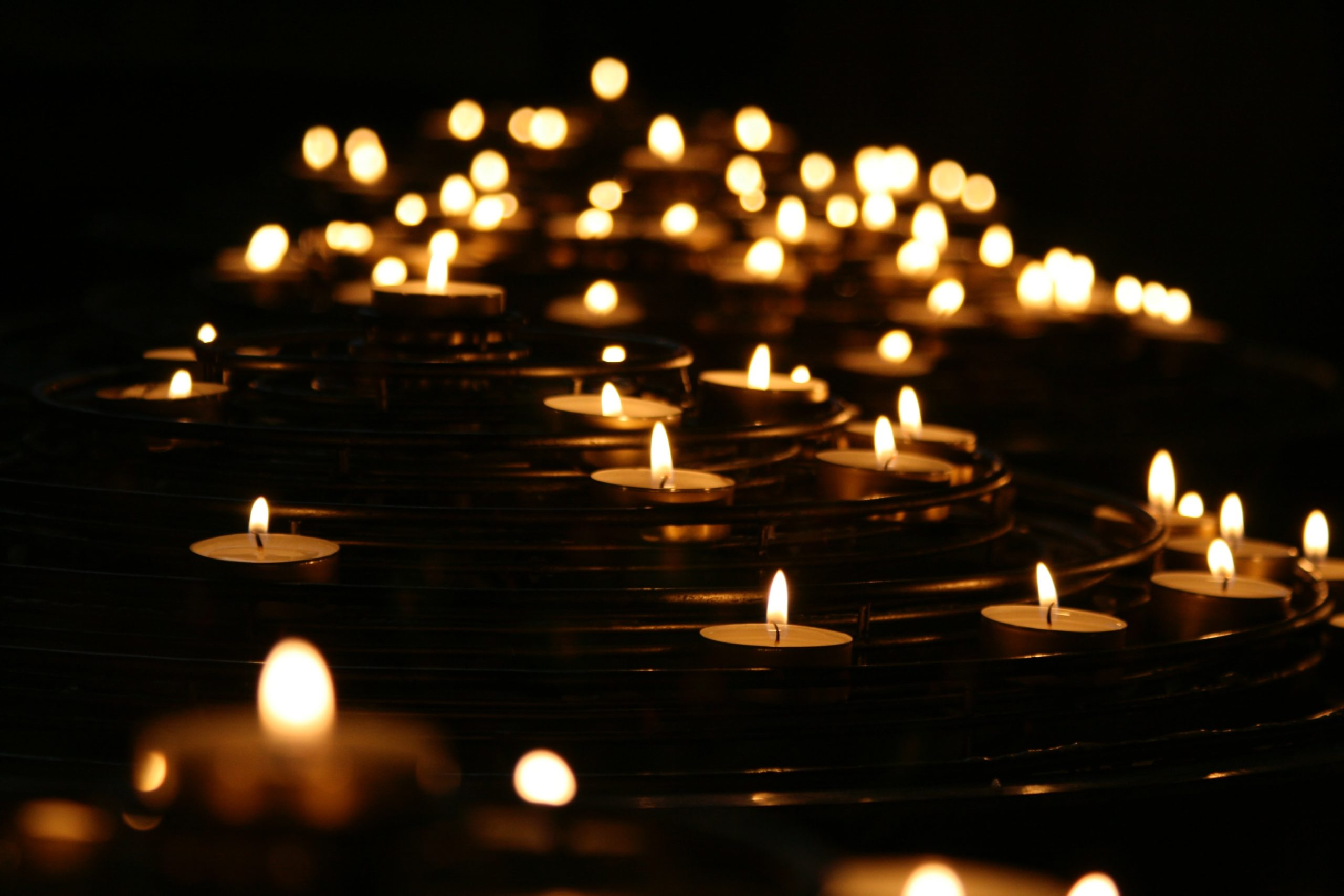 lit candles grief support Endless Journey Hospice Omaha Nebraska endless support